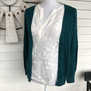 Emerald Teal Cardigan Sweater